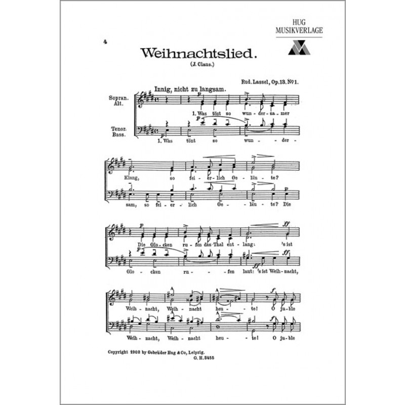 Weihnachtslied (Was tänt so wundersamer Klang) - Komponisten I-N ...