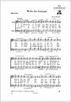 Weihe des Gesanges