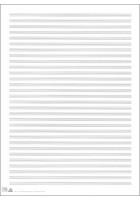 Notenpapier Siestrop mit Hilfslinien